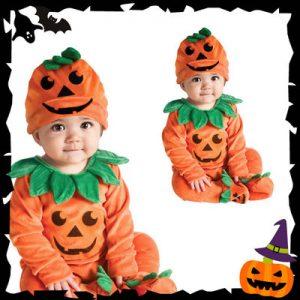 ベビー用ハロウィンかぼちゃ衣装