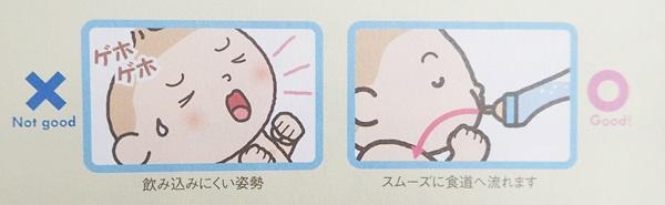 赤ちゃんのミルクを飲む姿勢